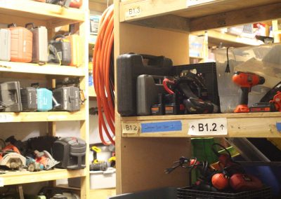 tool library storage area